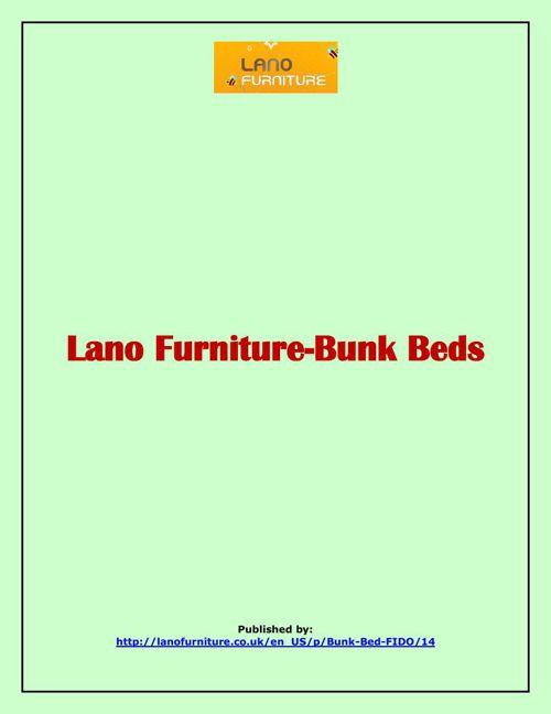 Lano Furniture-Bunk Beds