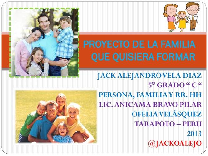 PROYECTO DE LA FAMILIA