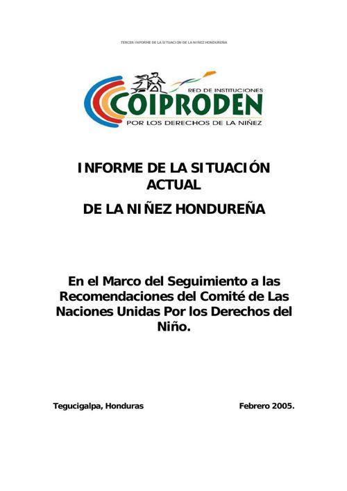 Honduras_COIPRODEN_NGO_Report_SP