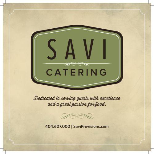 Savi Catering Menu