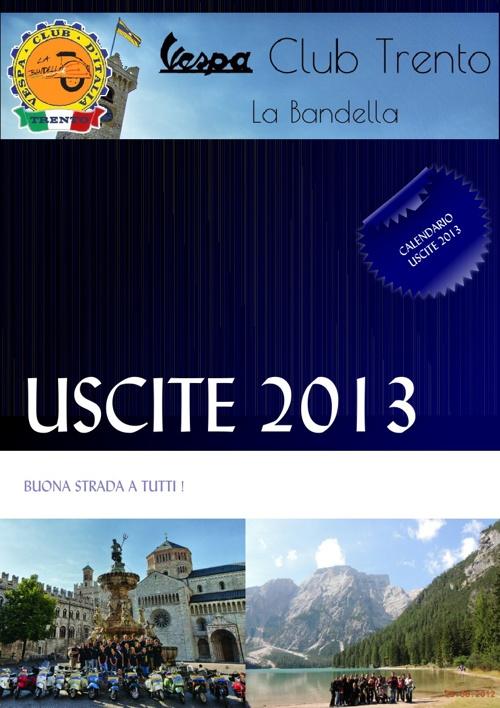 Calendario Uscite 2013 Vespa Club Trento La Bandella