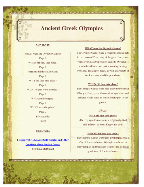 Ancient Greek Olympic Games