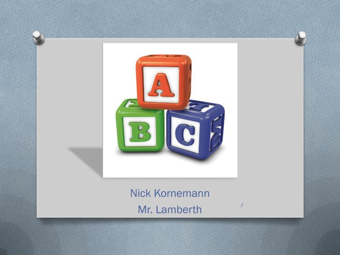Nick Kornemann ABC Book