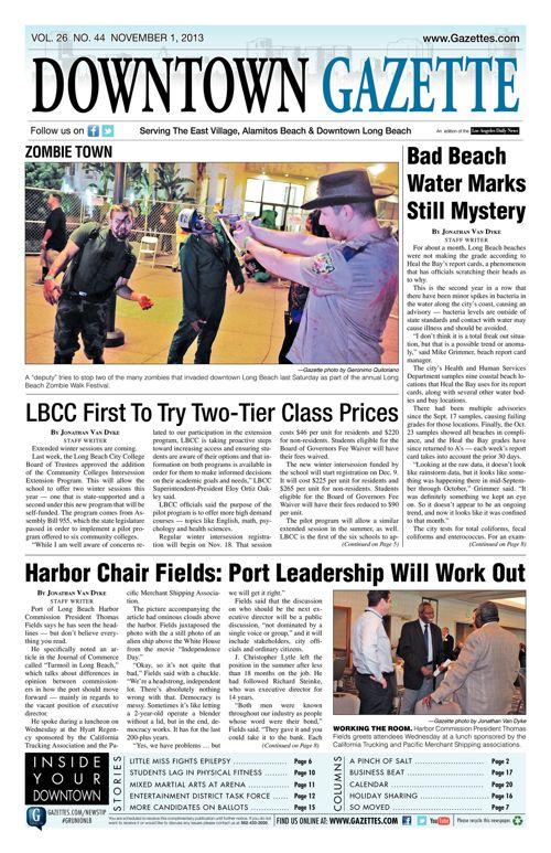 Downtown Gazette  |  November 1, 2013