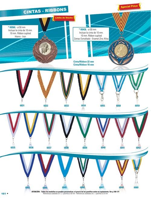 Medalhas, Fitas
