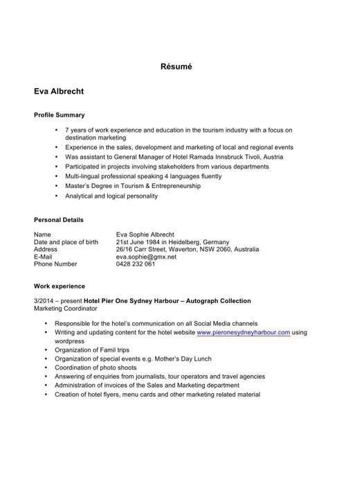 Résumé Eva Albrecht