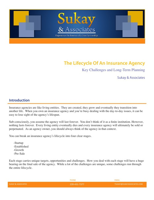 The Lifecycle Of An Insurance Agency