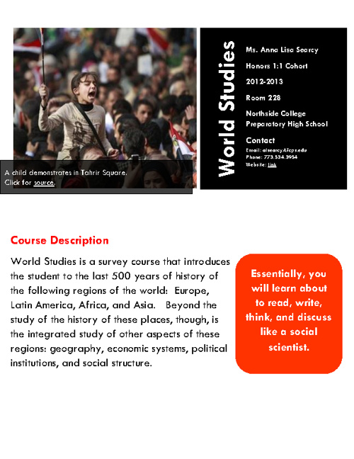 World Studies Syllabus