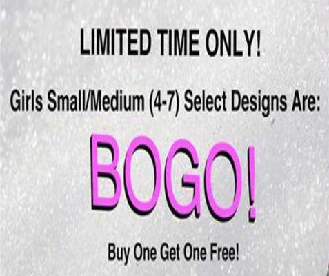Select girls 4-7 (sm-m) buy 1 get 1 free