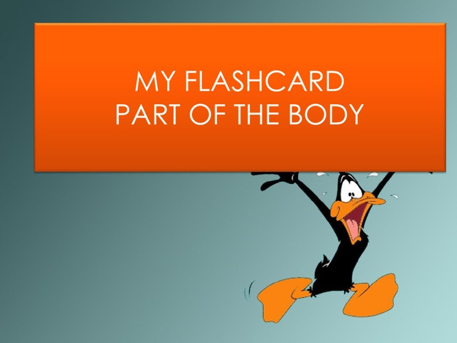 MY FLASHCARD_PARTS OF THE BODY