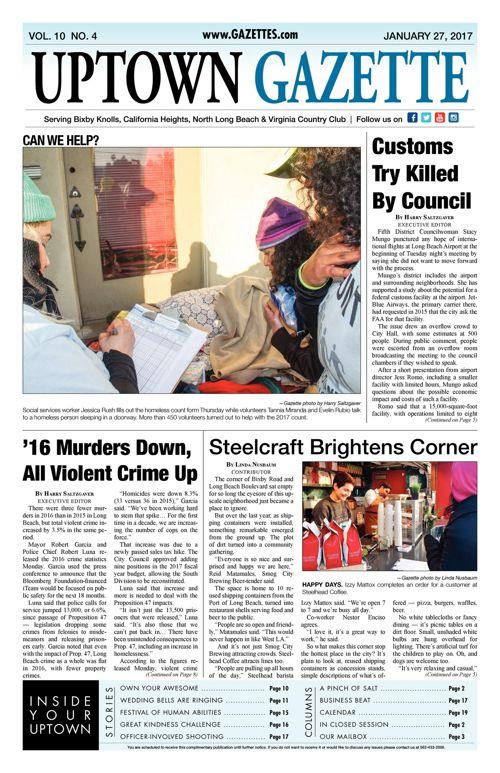 Uptown Gazette     January 27, 2017