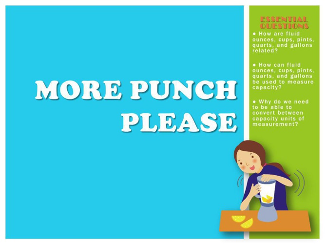 More Punch Please