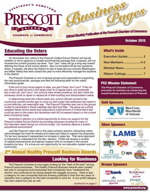 Prescott Chamber 10-15 Newsletter