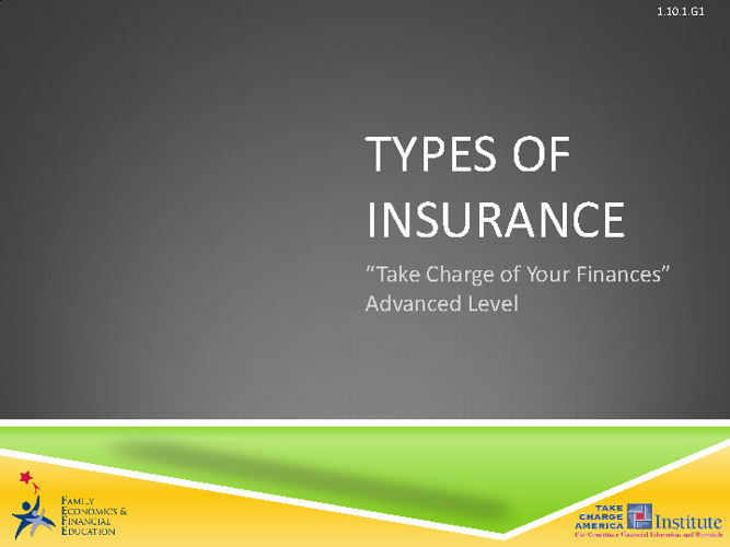 Types of Insurance II