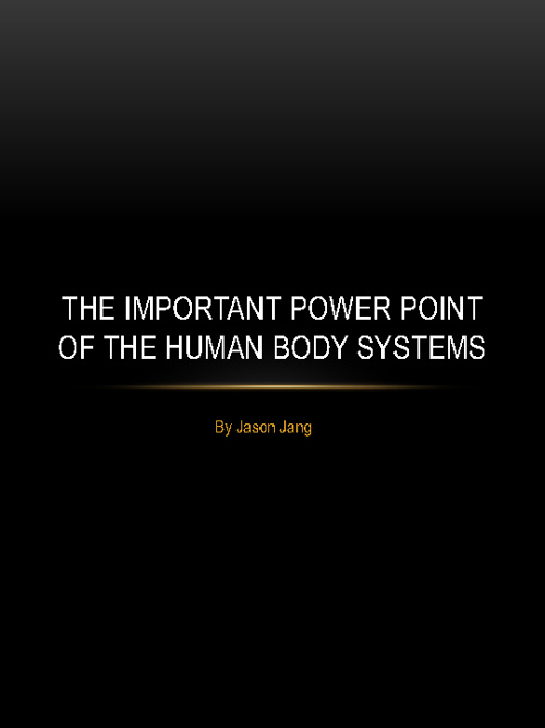 Human Body Book Example