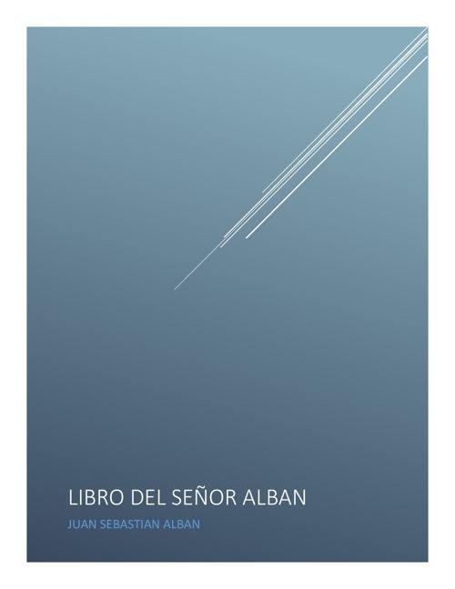 LIBRO DEL SEÑOR ALBAN