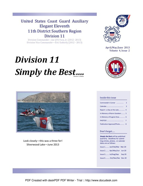 Division Newsletter Vol 4 Issue 2 AprMayJun 2013 Approved