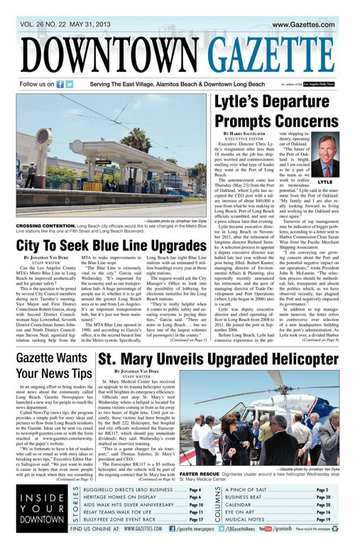 Downtown Gazette  |  May 31, 2013
