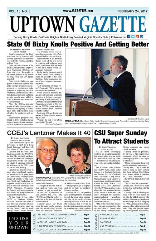 Uptown Gazette  |  February 24, 2017