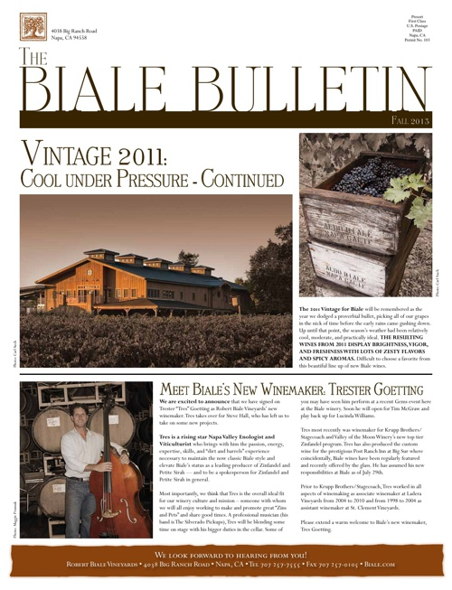 Biale Fall Wines Preview 2013