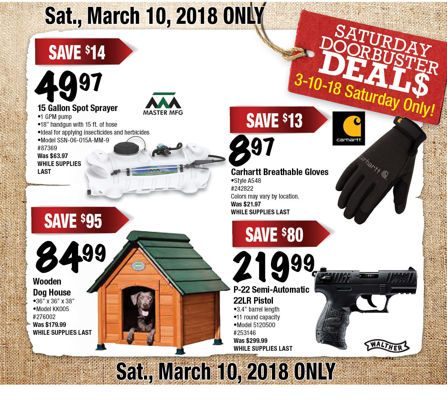 Ad 1805 March 10 Doorbusters