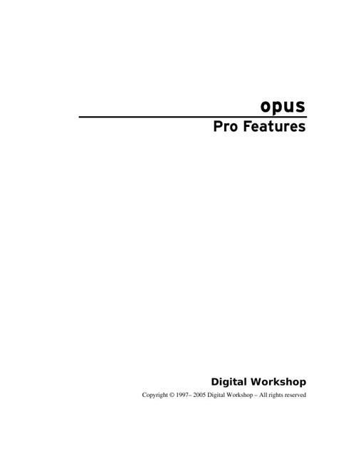 Opus Pro