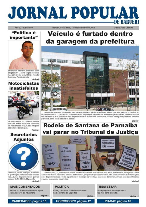 80ª edição do Jornal Popular de Barueri