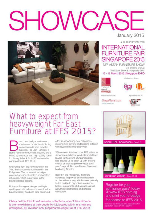Showcase - January 2015 - International Furniture Fair Singapore