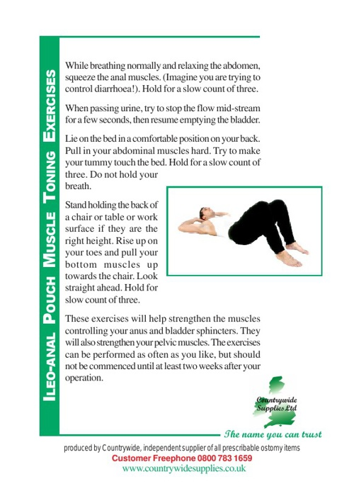Ileo-Anal Pouch Muscle Toning Exercises