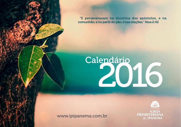 Calendário Ipanema 2016