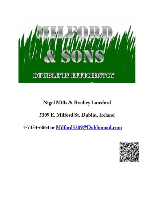 Milford & Sons Business Plan