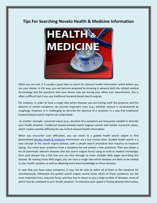Novato Health & Medicine