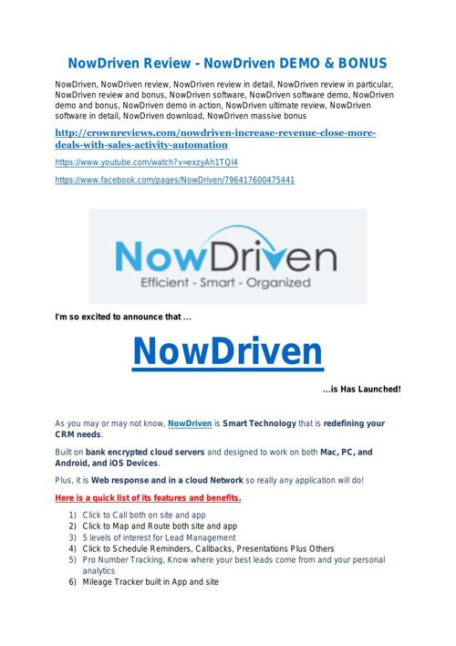 NowDriven review pro-$15900 bonuses (free)
