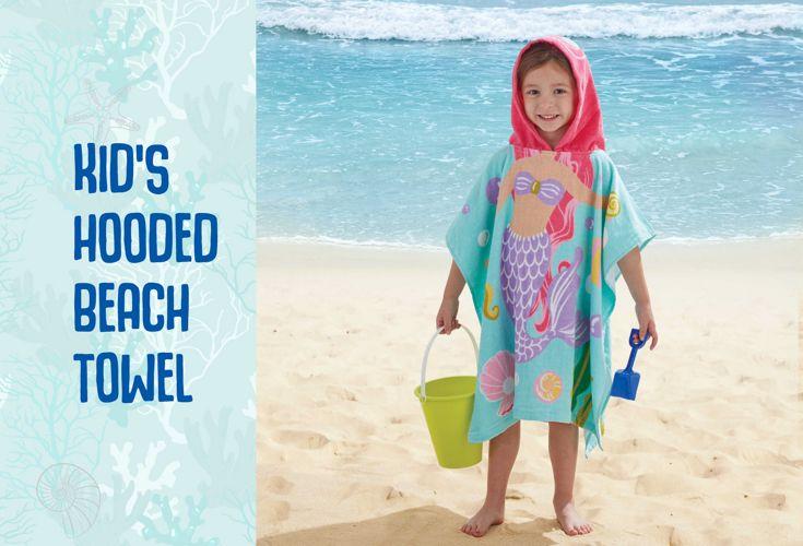 AURATEX-KIDS HOODED BEACH TOWELS