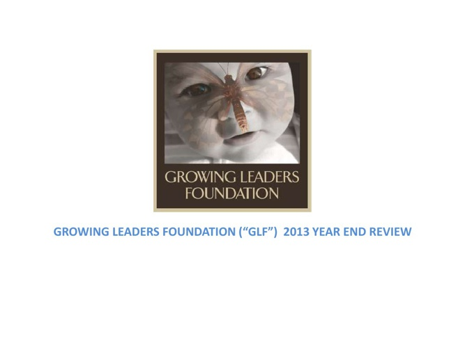GLF 2013 Year End Close out Report