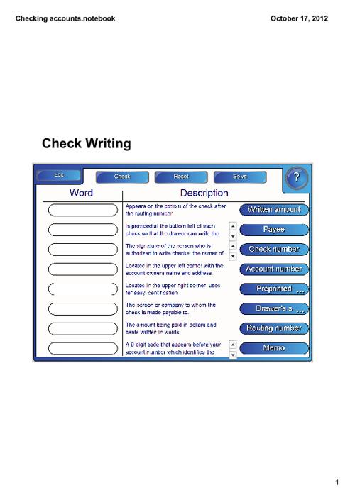 Check Writing