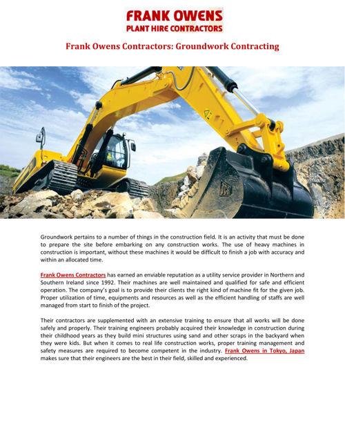 Frank Owens Contractors: Groundwork Contracting