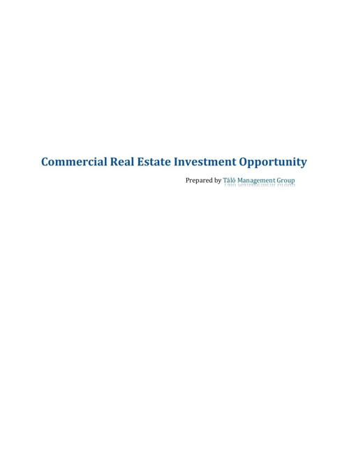 CRE Investment Opportunity