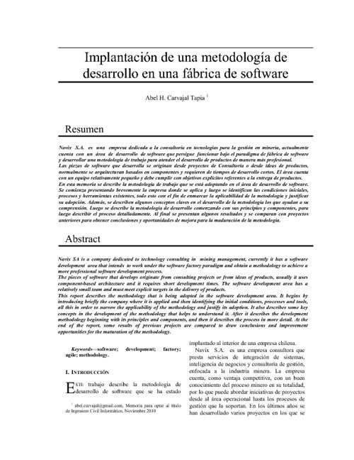 Memoria - Abel Carvajal Tapia Ing.Civil Informático UTFSM