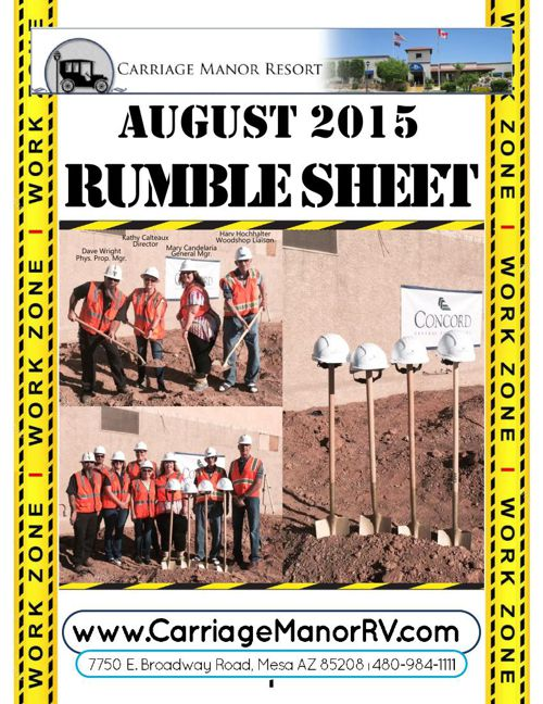 August 2015 Rumble Sheet