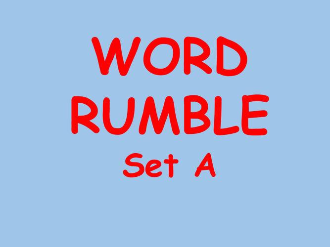 Word Rumble List A