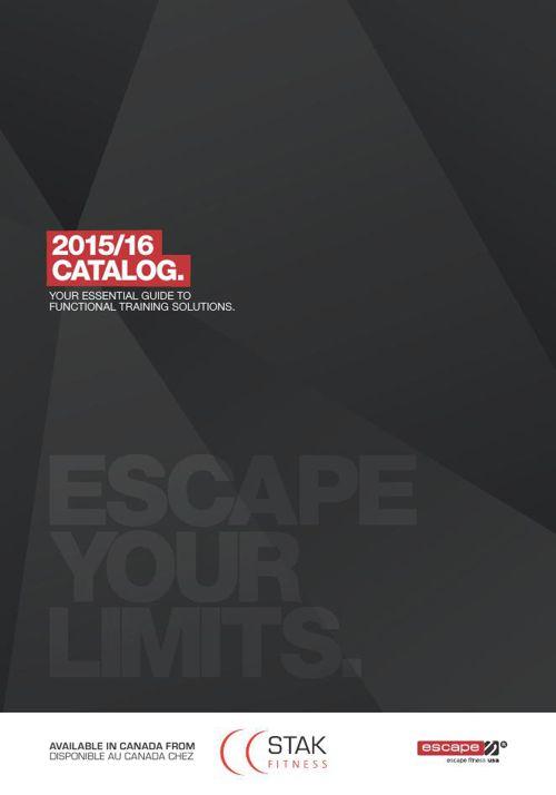 2015 ESCAPE Fitness Catalogue - STAK Fitness