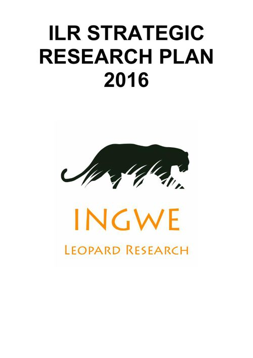 INGWE LEOPARD RESEARCH PLAN 2016