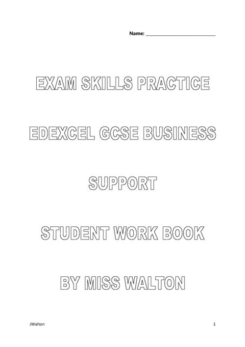 Exam Skills Booklet for C Grade Answers