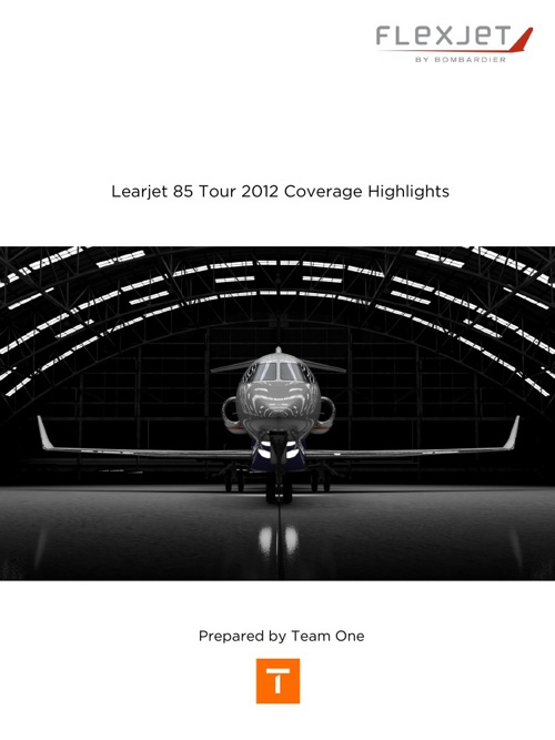 Learjet 85 Tour Coverage Report