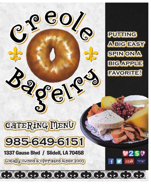 Creole Bagelry - New Catering Menu (06-04-2014)