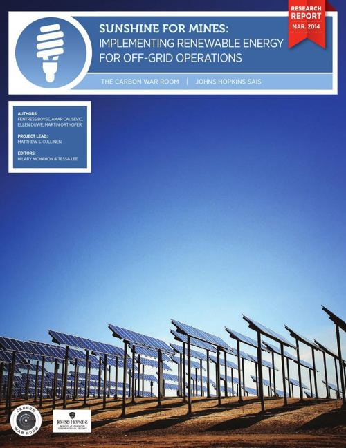 Sunshine for Mines: Renewable Energy for Off-Grid Operations