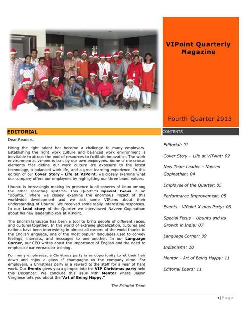 VIPoint Magazine Issue 2 Q4 2013