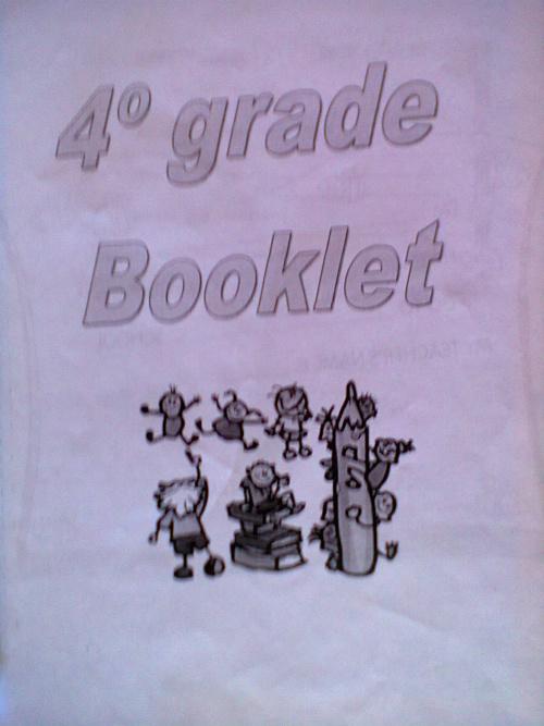 4° GRADE BOOKLET