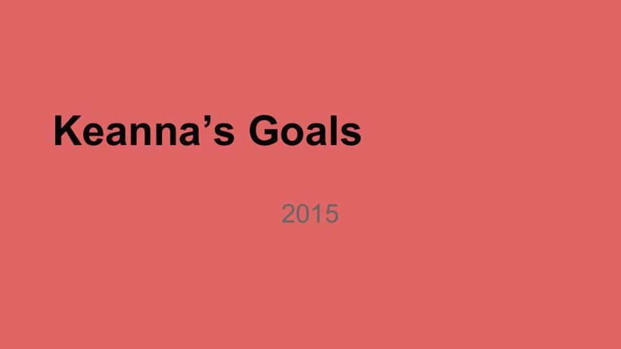 goals Keanna Evans